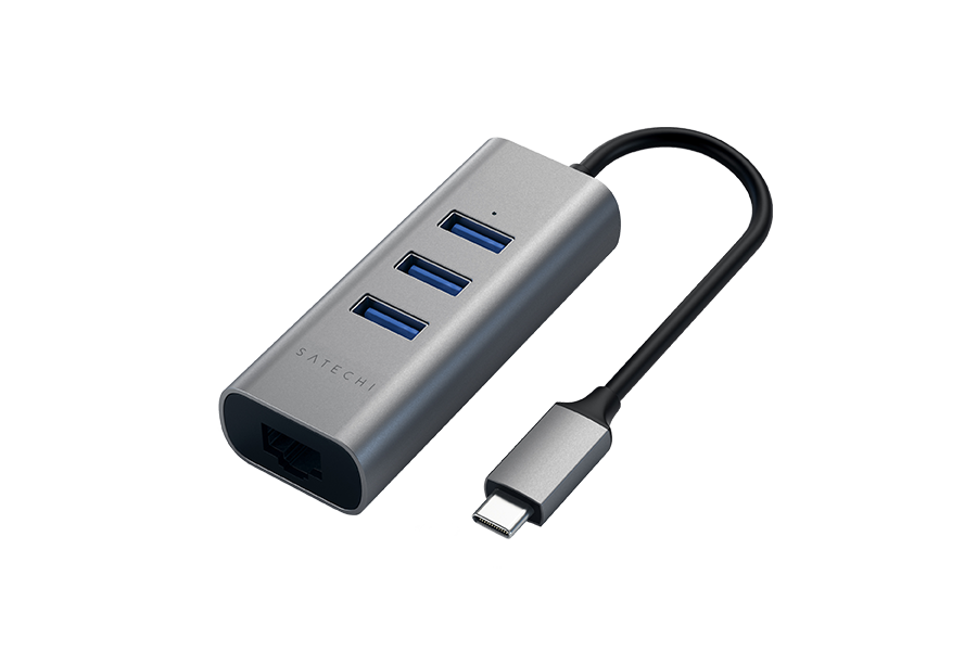 Satechi hub USB-C 3 ports USB 3.0 - 1 port GigaBit Ethernet