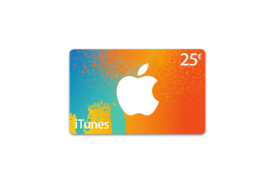 Apple carte iTunes 25 € - distribution électronique